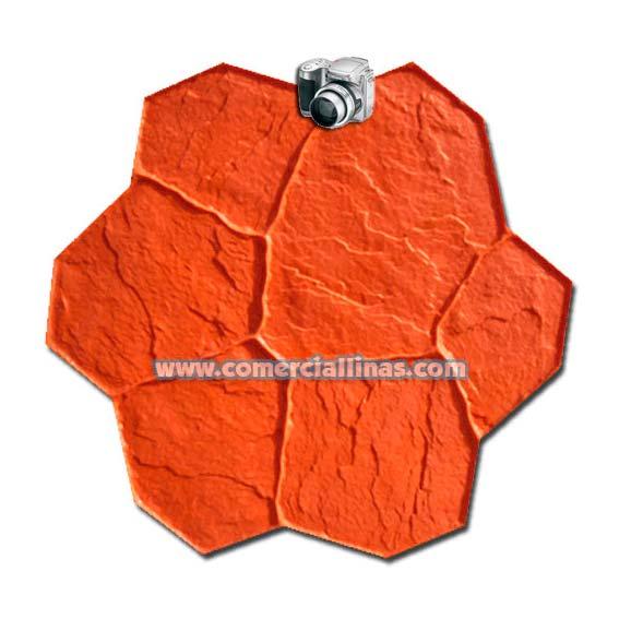 Molde hormig n impreso piedra cantera laja comercial llin s for Hormigon impreso moldes