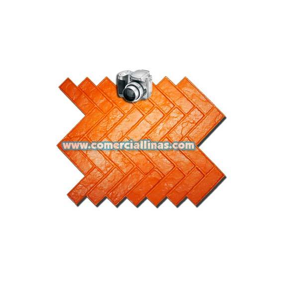 Molde hormig n impreso ladrillo rabe comercial llin s for Hormigon impreso moldes