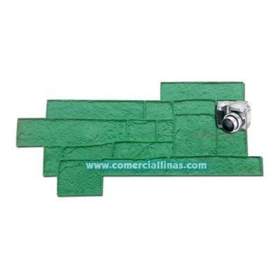 Molde hormig n impreso roca muisca comercial llin s for Hormigon impreso moldes