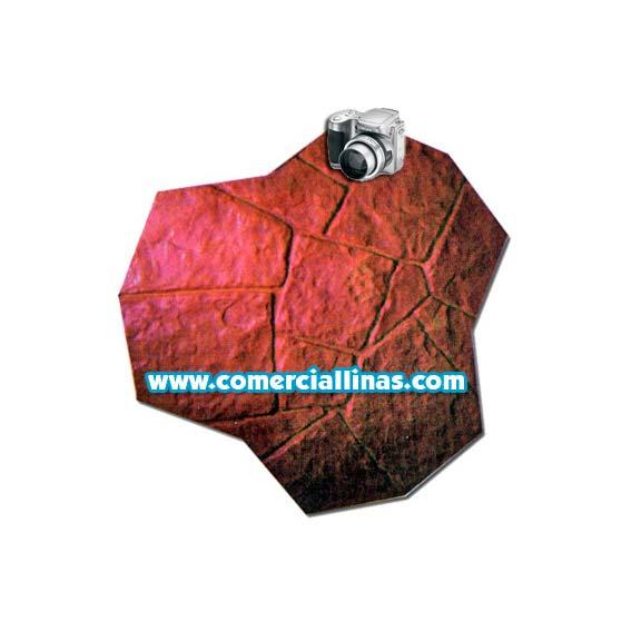 Molde hormig n impreso piedra irregular comercial llin s for Hormigon impreso moldes