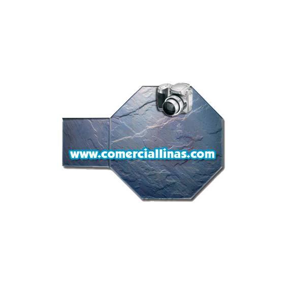 Molde hormig n impreso tarima octogonal i comercial llin s for Limpiar hormigon impreso