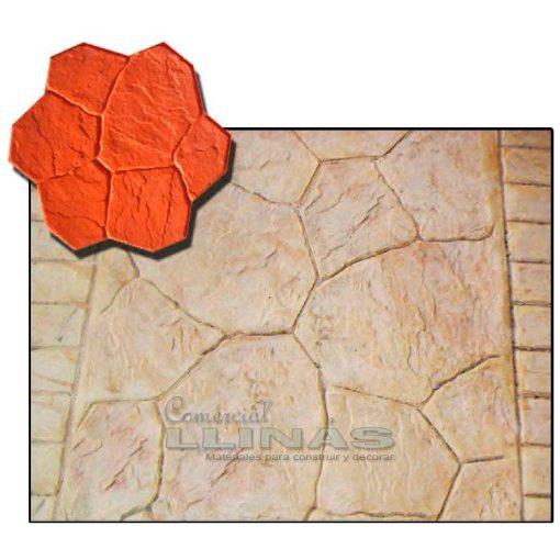 Ejemplo Molde hormigón impreso Piedra Cantera Laja