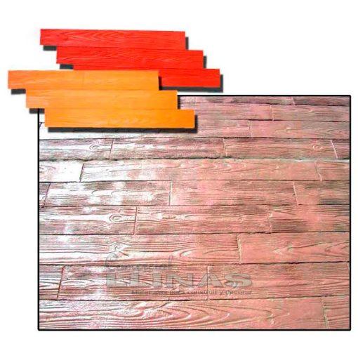 Molde hormigón impreso Tarima Pino II. Ejemplo