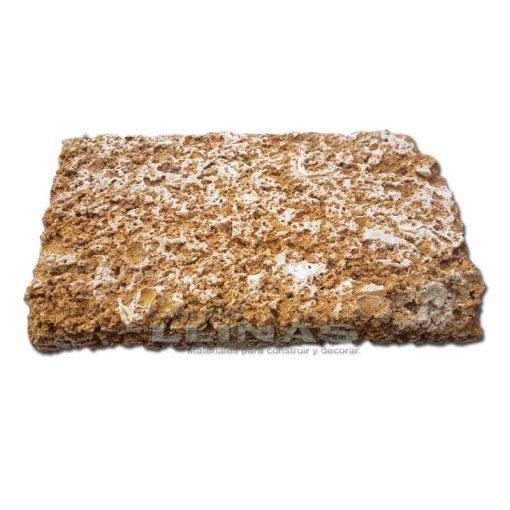 Piedra Ostionera cortada a 40cm x 20cm x 3cm sin calibrar