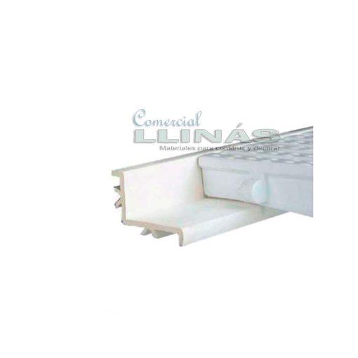 Perfil soporte rejilla piscina rebosadero