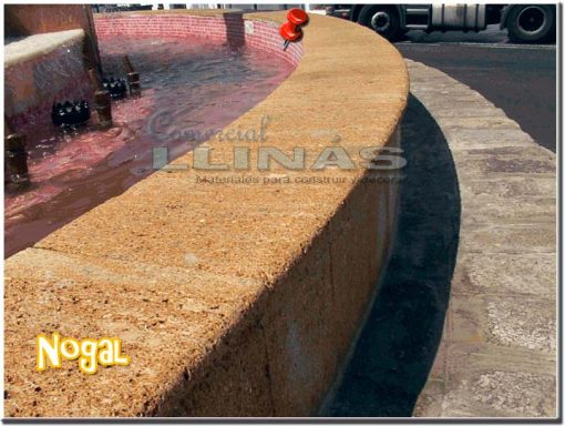 Piedra natural cortada Nogal 60x30 cm
