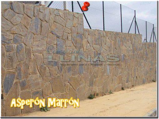 Piedra natural irregular Asperón Marrón. Muro
