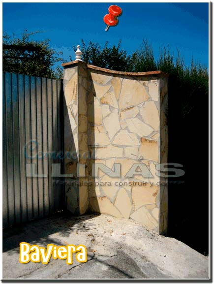 Piedra natural irregular Baviera. Muro