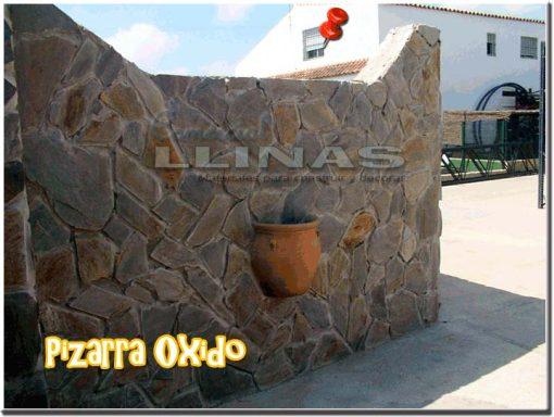 Piedra natural irregular Pizarra Oxido. Muro Camping