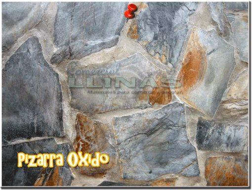 Piedra natural irregular Pizarra Oxido. Muro