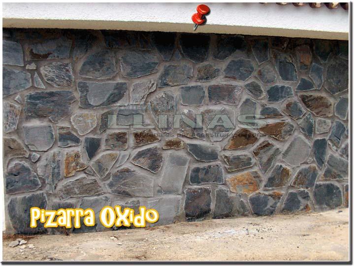 Piedra natural irregular pizarra oxido comercial llin s - Como colocar piedra natural ...