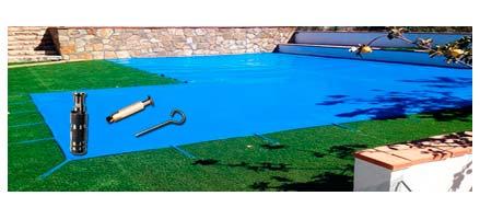 Piquetas a utilizar en un cobertor para piscina