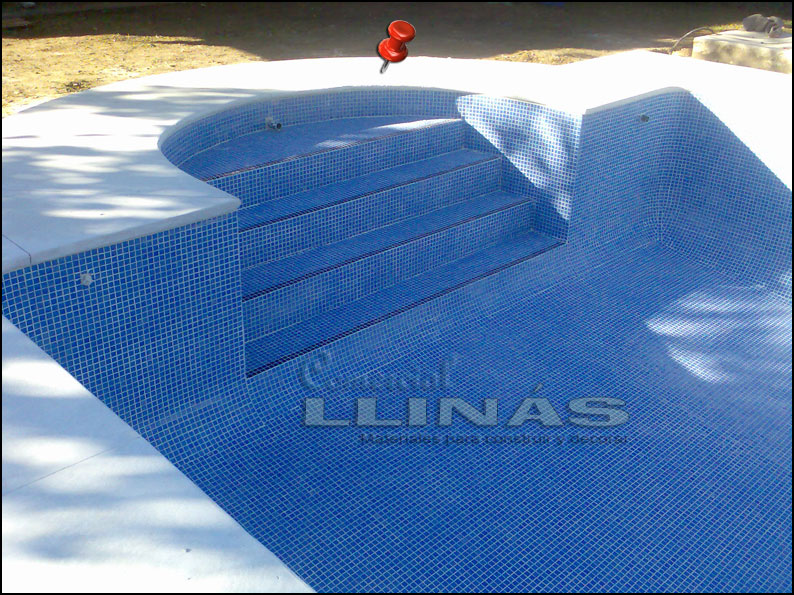 Gresite piscina serie niebla azul celeste comercial llin s - Precio gresite piscina ...