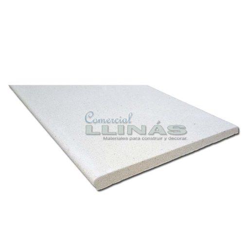 Remate de piscina en marmolina blanca 1m x 50 cm. Detalle