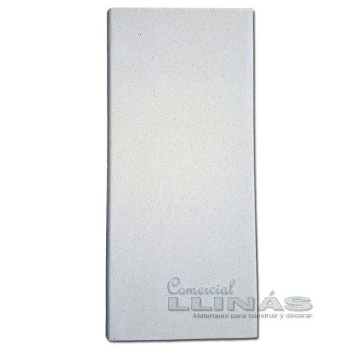 Remate de piscina en marmolina blanca 1m x 50 cm