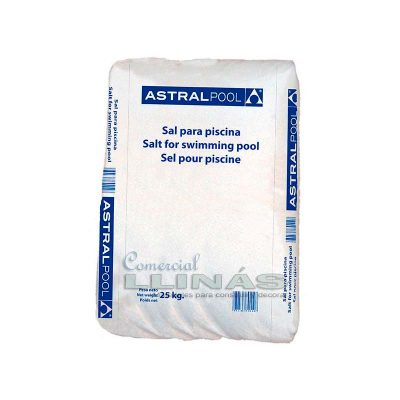 Sal compacta para cloración salina saco 25 kg