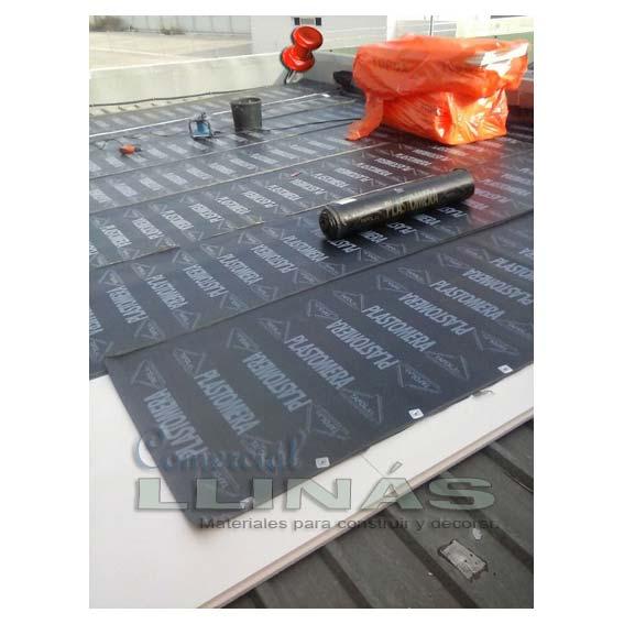 Tela asfaltica con aluminio simple teja asfltica y for Precio mano de obra colocacion tela asfaltica