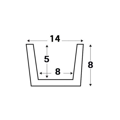 Viga Rústica de Poliestireno de 12cm x 8cm x 2,60m. Medidas