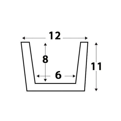 Viga Rústica de Poliestireno de 12cm x 11cm x 260 mm. Medidas